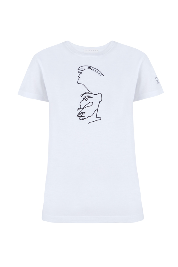 Camiseta blanca silueta