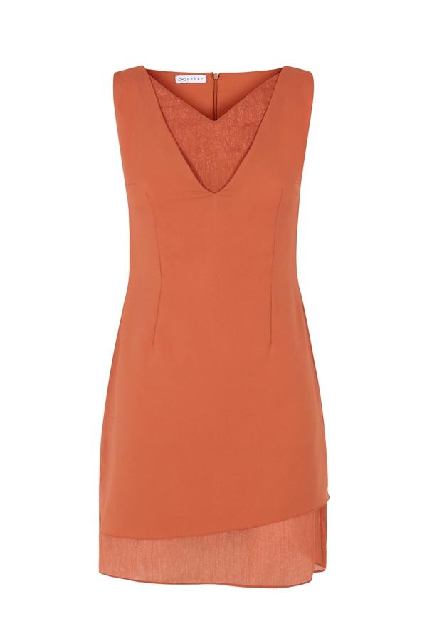 ORANGE SHORT DRESS